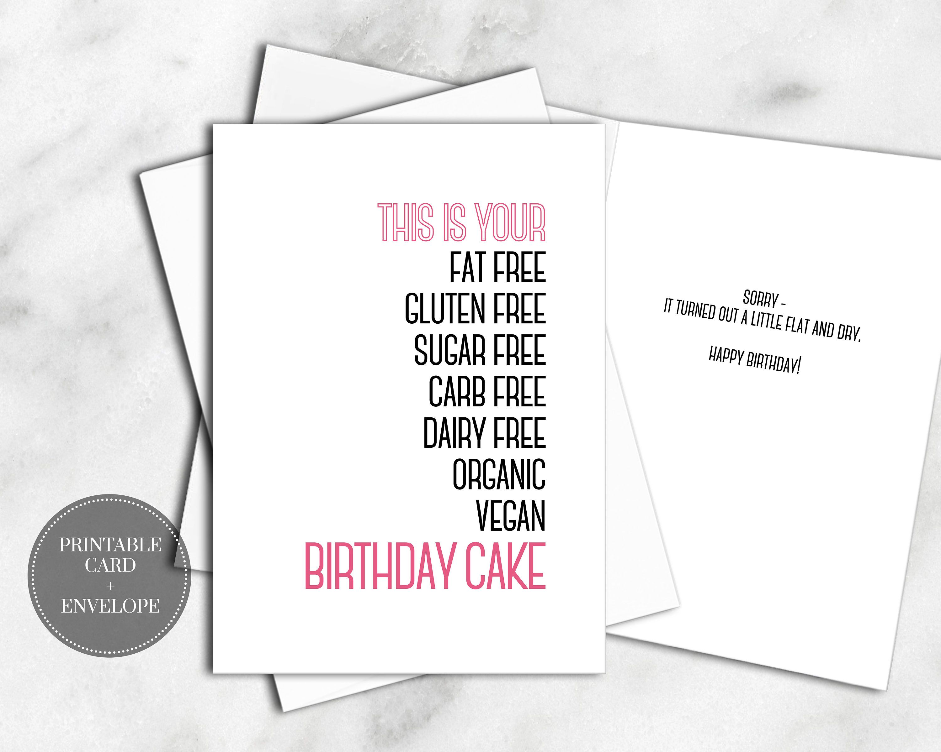 photo regarding Free Printable Funny Birthday Cards for Adults called PRINTABLE Humorous Exercise routine Birthday Card for Her Instantaneous