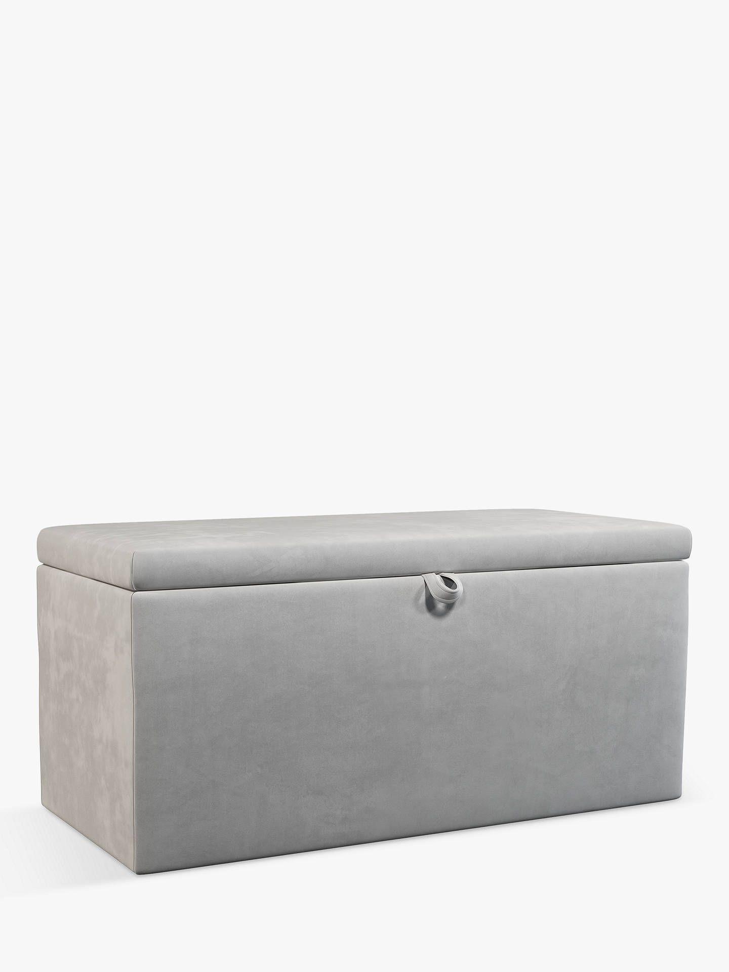 Fine John Lewis Partners Emily Upholstered Ottoman Storage Box Dailytribune Chair Design For Home Dailytribuneorg