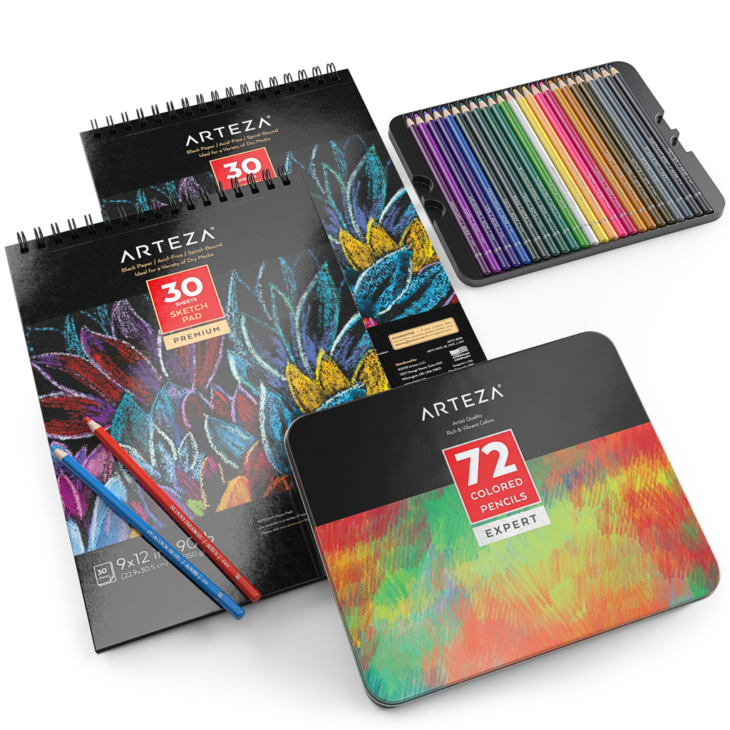 The Drawing Kit You Need This Fun And Colorful Bundle Includes A Set Of 72 Professional Colored Pencils Along With Arteza Hobby Lobby Crafts Colored Pencils