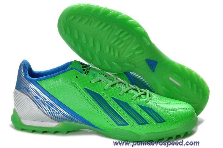 Adidas f10 trx tf green blue silver sale soccer shoes