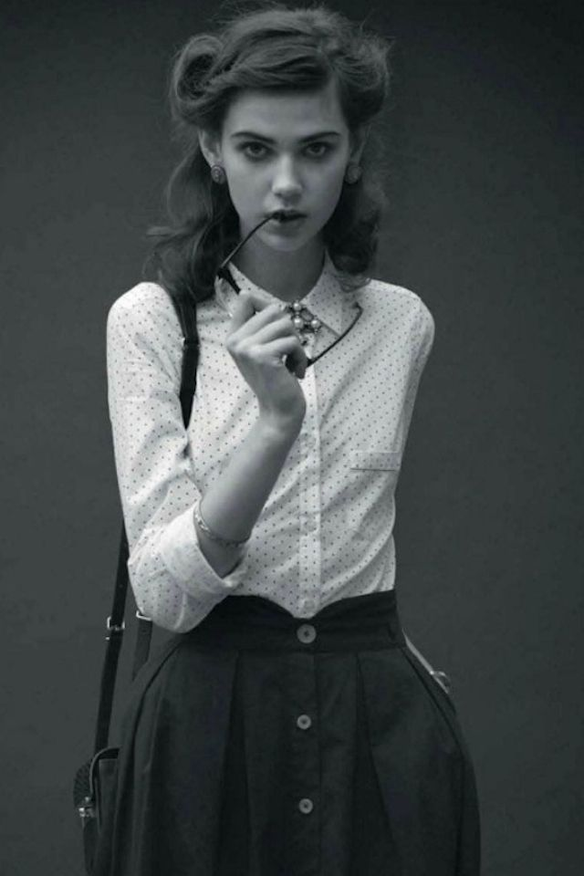 Black and white 40s dress style