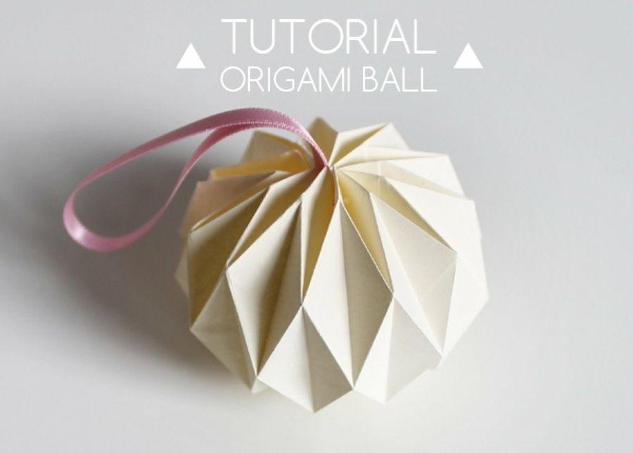 Tutorial Para Hacer Bolas De Navidad Con Origami Christmas OrnamentOrigami