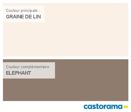 Castorama Nuancier Peinture - Mon harmonie Peinture GRAINE DE LIN ...