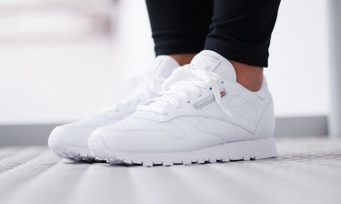 the latest 90682 db322 reebok-classic-blanche-leather-weiss-femme-homme-cuir