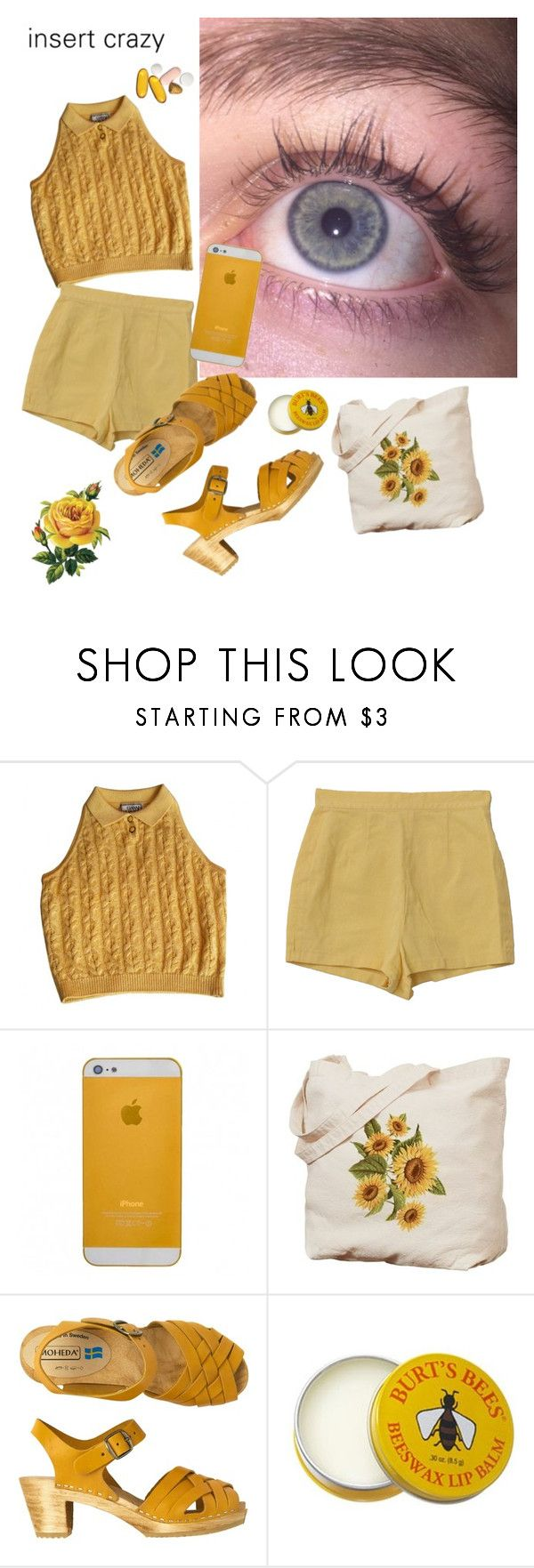 """""""Summers in the air, baby heavens in your eyes"""" by introvertedrose ❤ liked on Polyvore featuring Versace, Retrò, Toast and Burt's Bees"""