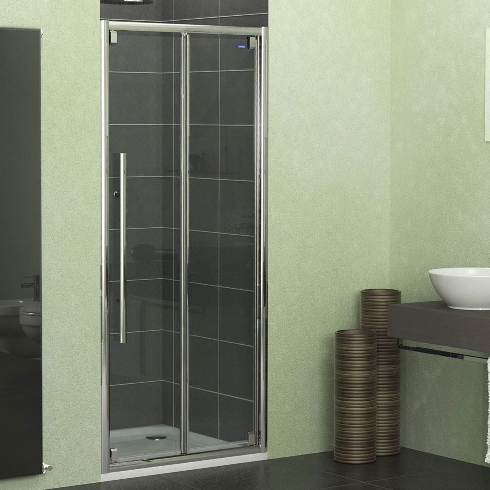 ShowerLux Linea Touch Bi-Fold Shower Door 1000mm Wide 8mm Glass & ShowerLux Linea Touch Bi-Fold Shower Door 1000mm Wide 8mm Glass ...