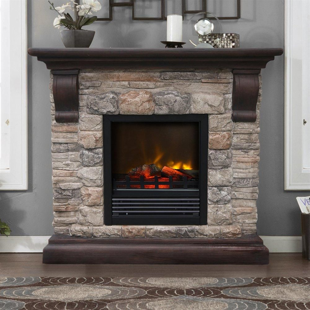 This Electric Fireplace Will Ad Charm And Create Incredibly Realistic Flame Effect Faux Stone Fireplaces Faux Stone Electric Fireplace Stone Electric Fireplace