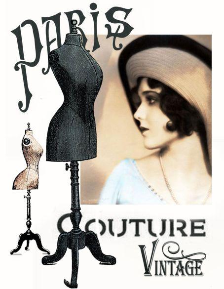 paris vintage woman digital collage .. p1022 Free for