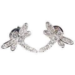 Diamond Set White Gold Dragonfly Earrings