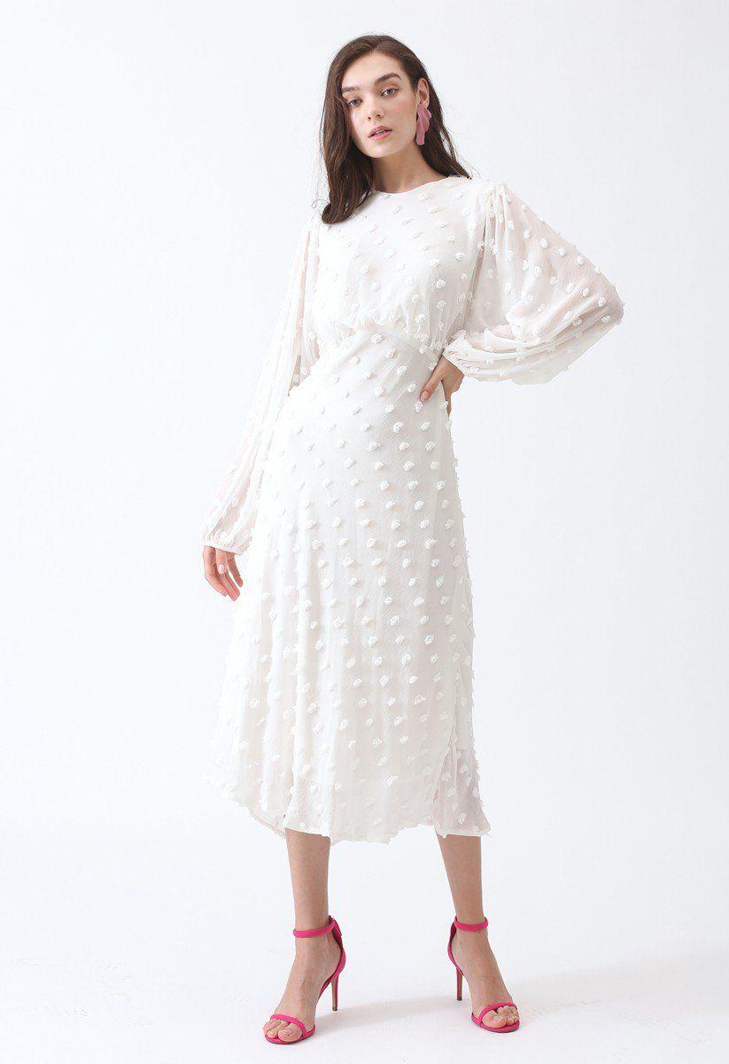 Cotton candy sheer maxi dress in white sheer maxi dress