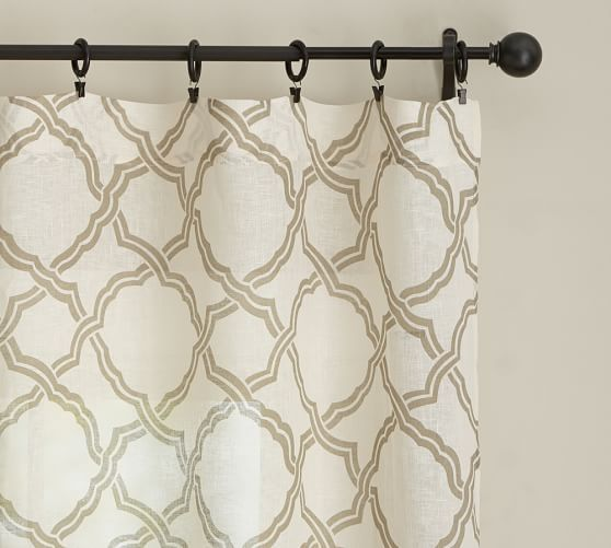 Kendra Trellis Sheer Curtain With Images Small Closet