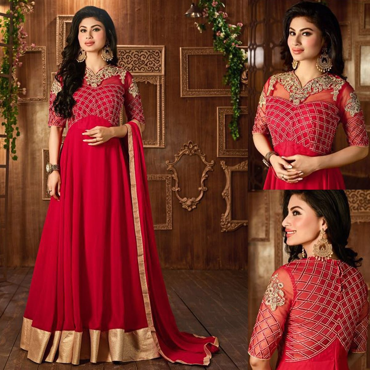 Salwar kameez with red dupatta perfect for party wear oh so red