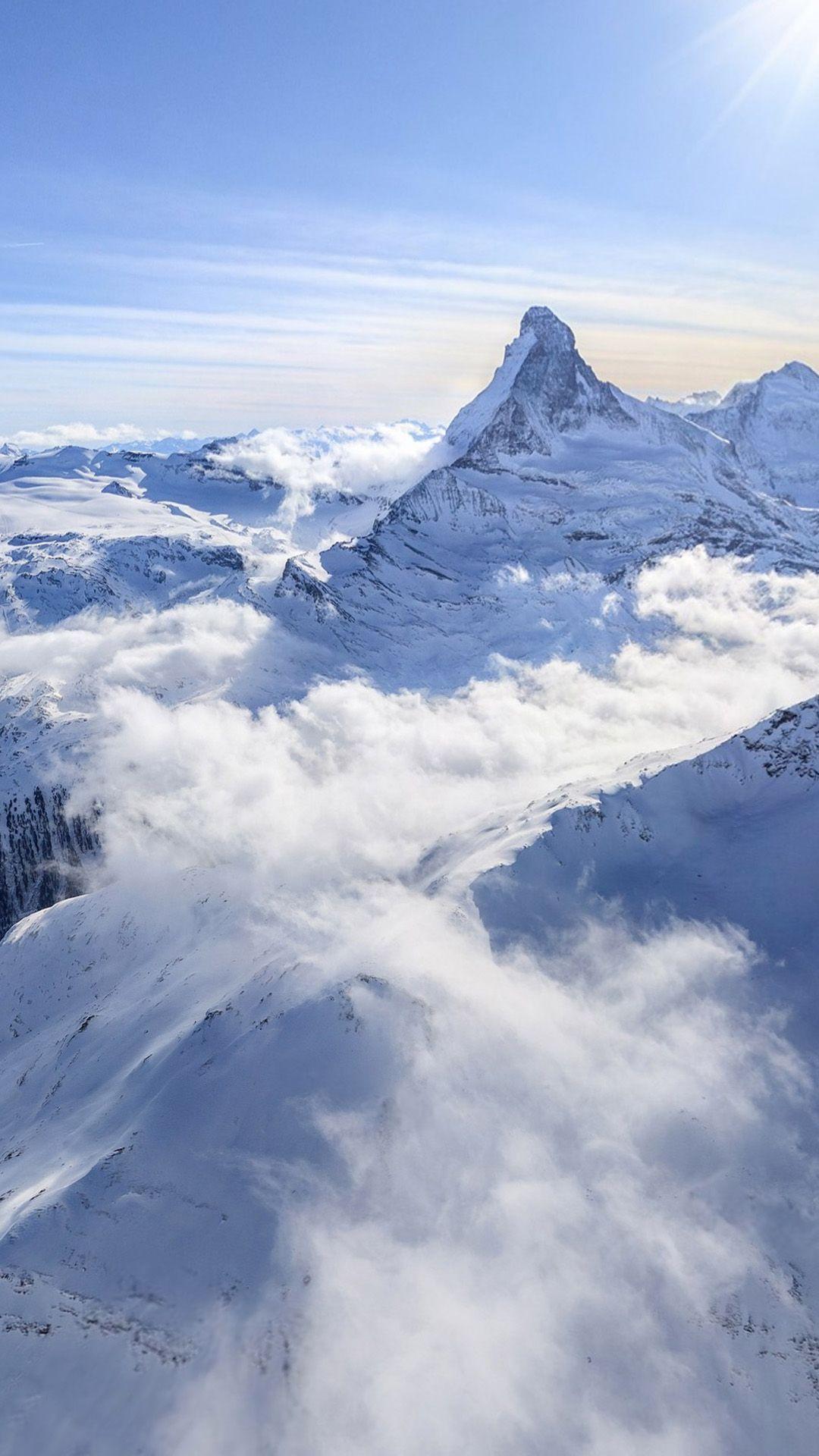 White Sunny Clouds Snow Landscape Iphone 6 Plus