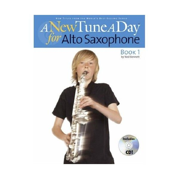 New Tune a Day Alto Saxophone Book 1/CD. Logical, gentle pace, and keen attention to detail, but with a host of innovations: the inclusion of an audio CD - with actual performances and backing tracks. $21.00