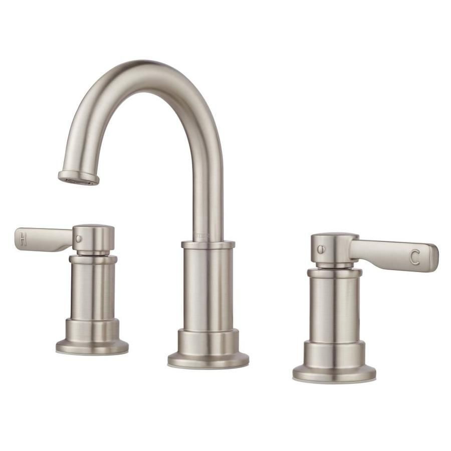 stainless steel bathroom fixtures. pfister breckenridge spot defense stainless steel 2-handle widespread bathroom faucet $129 at lowes fixtures t