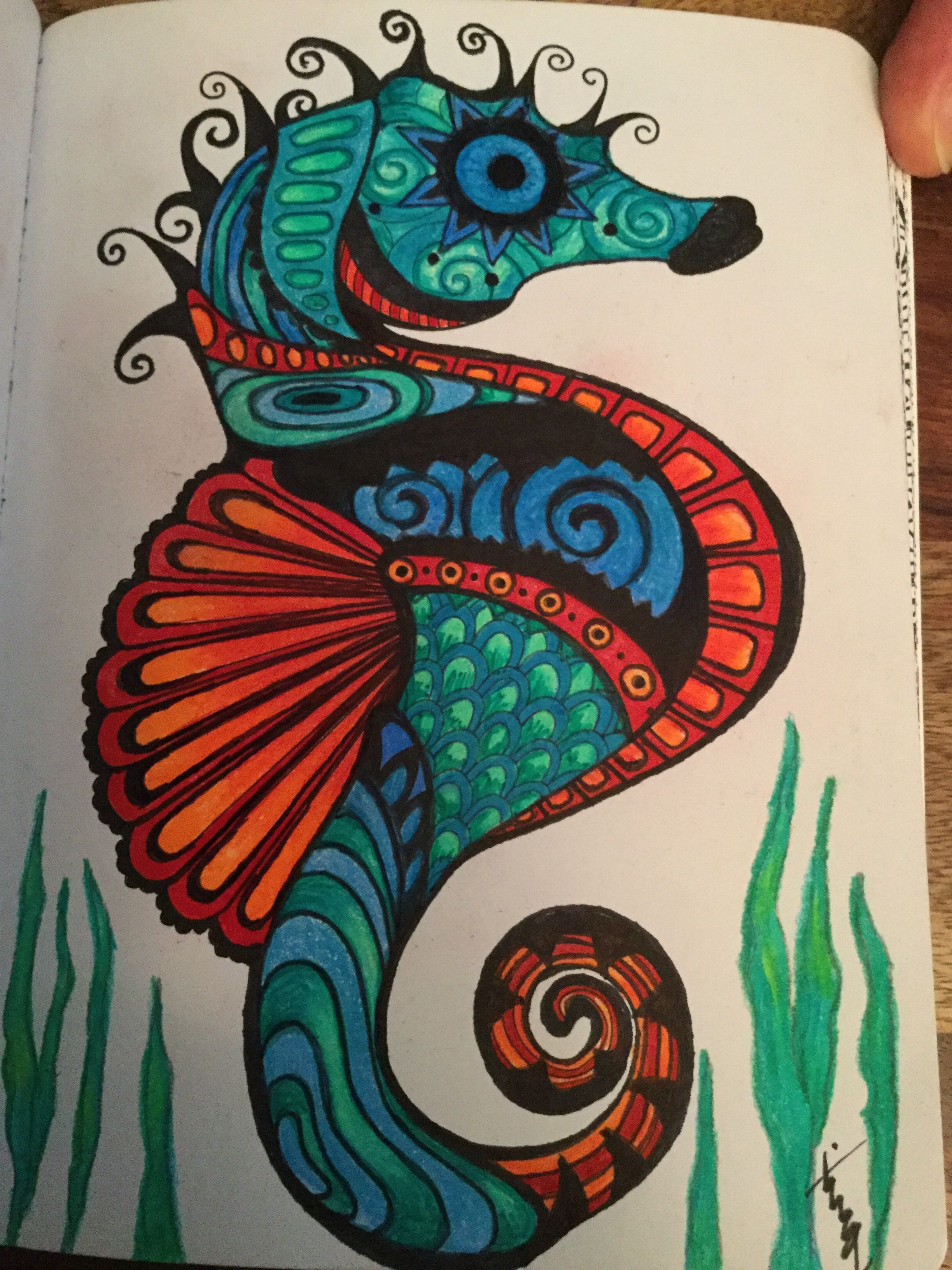 Artist Tina Grace. Page from my coloring book.
