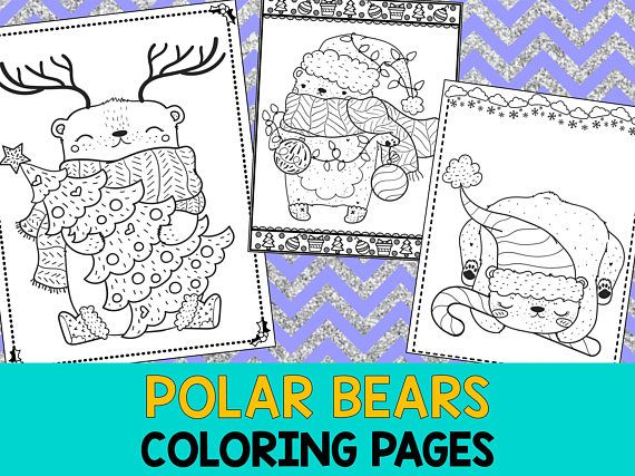 Polar Bears Coloring Book Pages The Crayon Crowd Printable