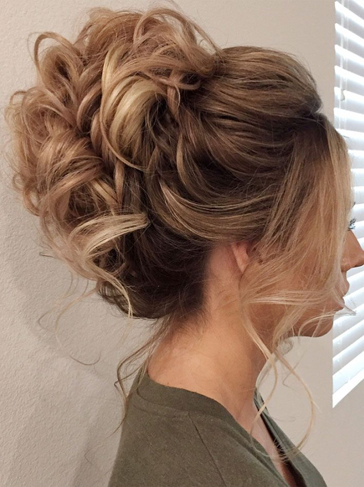 Messy updo hairstyle to inspire you for your big day