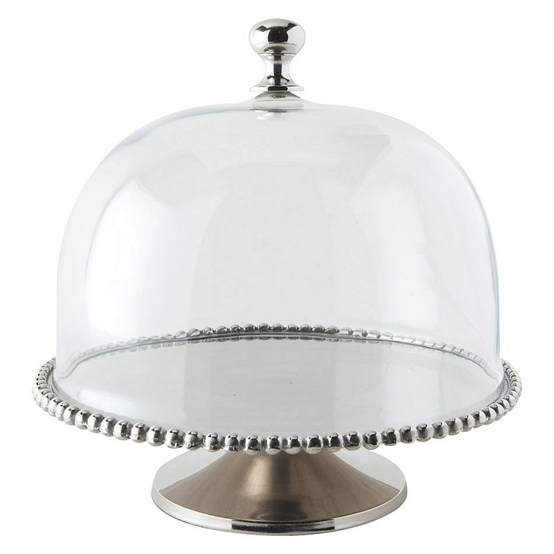 Buy culinary concepts beaded cake stand with glass dome