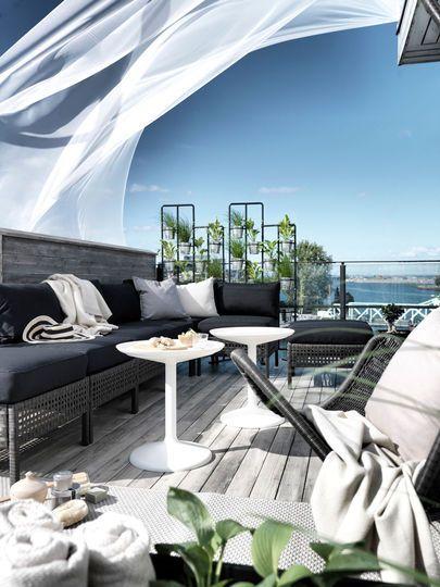 Deco terrasse exterieur, mobilier de jardin et decoration pour la ...