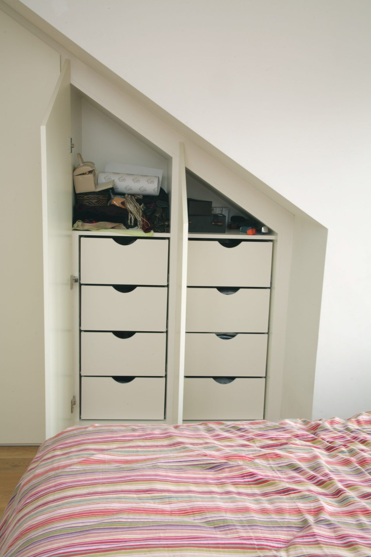 Loft bedroom storage ideas  Contemporary fitted wardrobes for loft bedroom   inspirace