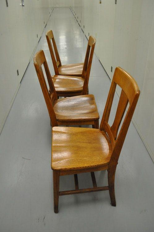 Strange Dining Table 4 Chairs Round Oak 1918 Tiger Oak Top Short Links Chair Design For Home Short Linksinfo