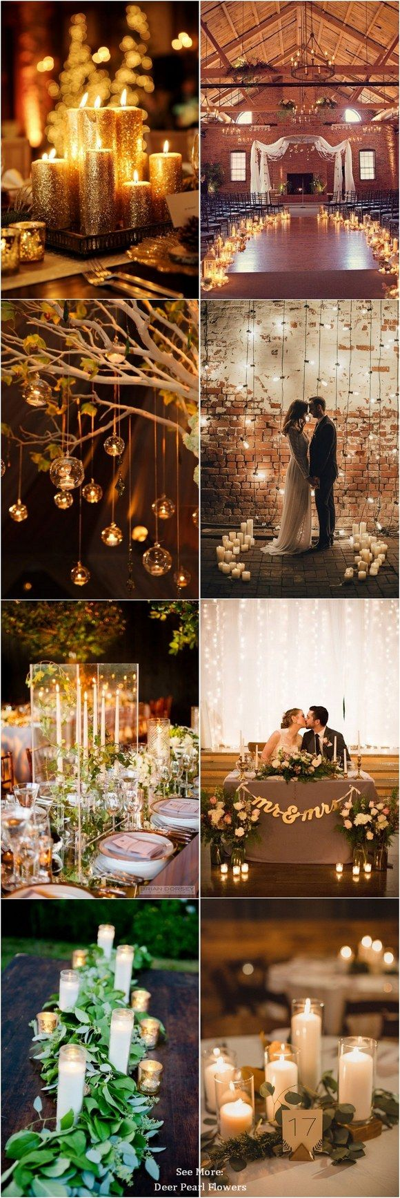 Rustic romantic wedding candle decor ideas httpwww rustic romantic wedding candle decor ideas junglespirit