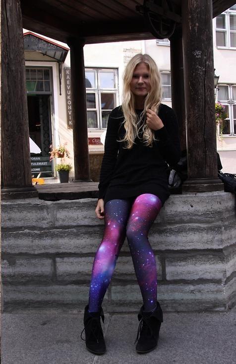Black Milk Leggings Galaxy Purple