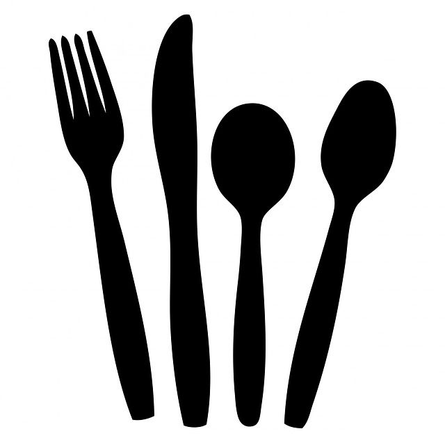Free Image On Pixabay Cutlery Knife Fork Spoon Black
