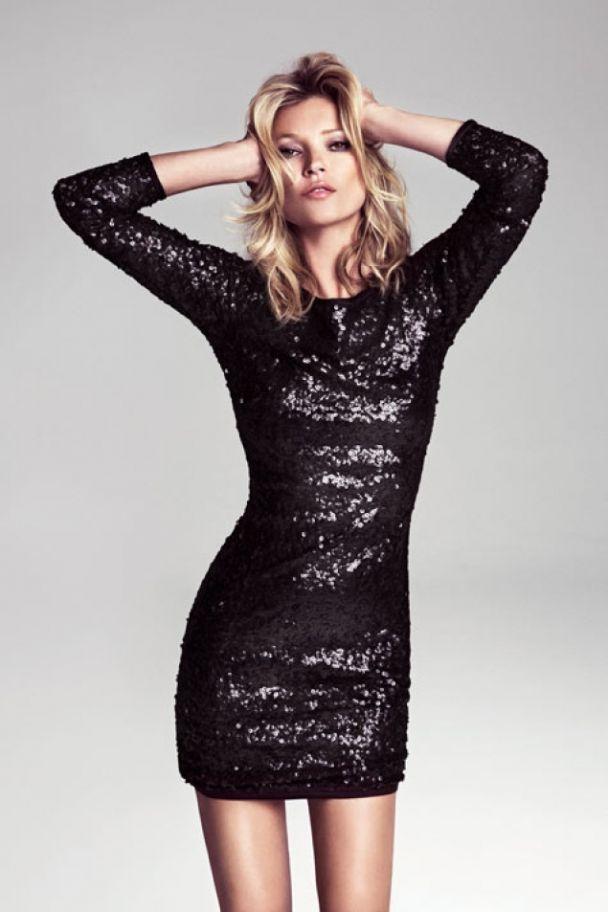 Kate Moss con vestido de lentejuelas de Mango  e95c23cf88bb