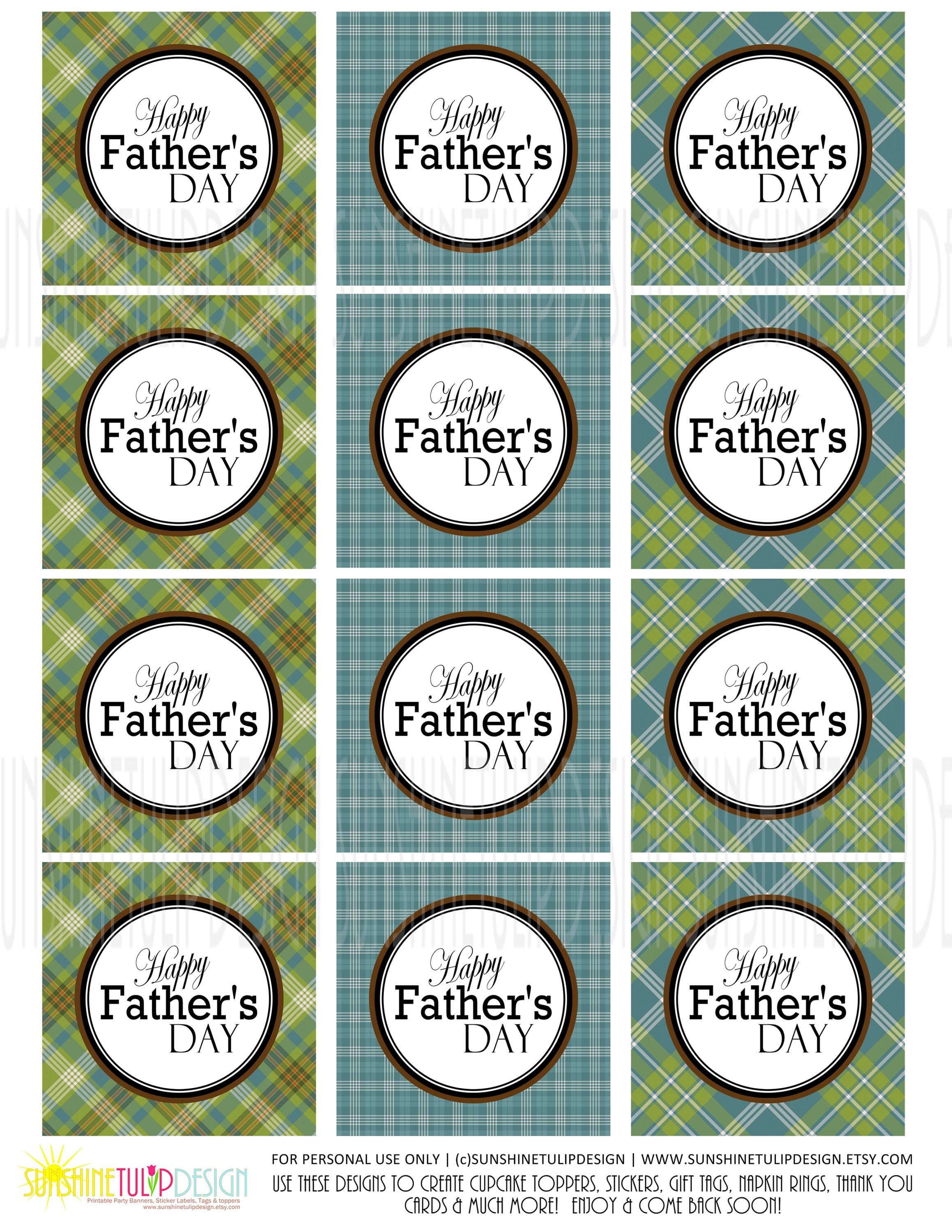 Printable Fathers Day T Tags Printable Plaid Father S