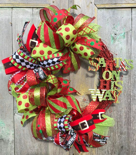 Christmas Wreath Christmas Ribbon Wreath by FollowYourWreath