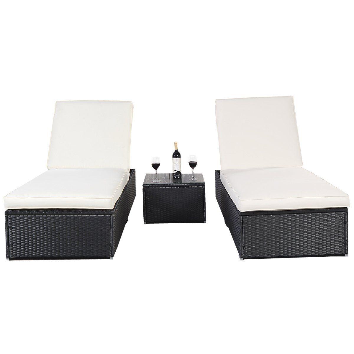 Amazon De Polyrattan Gartenliege Sonnenliege Relaxliege Liegestuhl Kissen Lounge Doppelliege Liegegruppe Schwa Sonnenliege Gartenliege Gartenliege Polyrattan