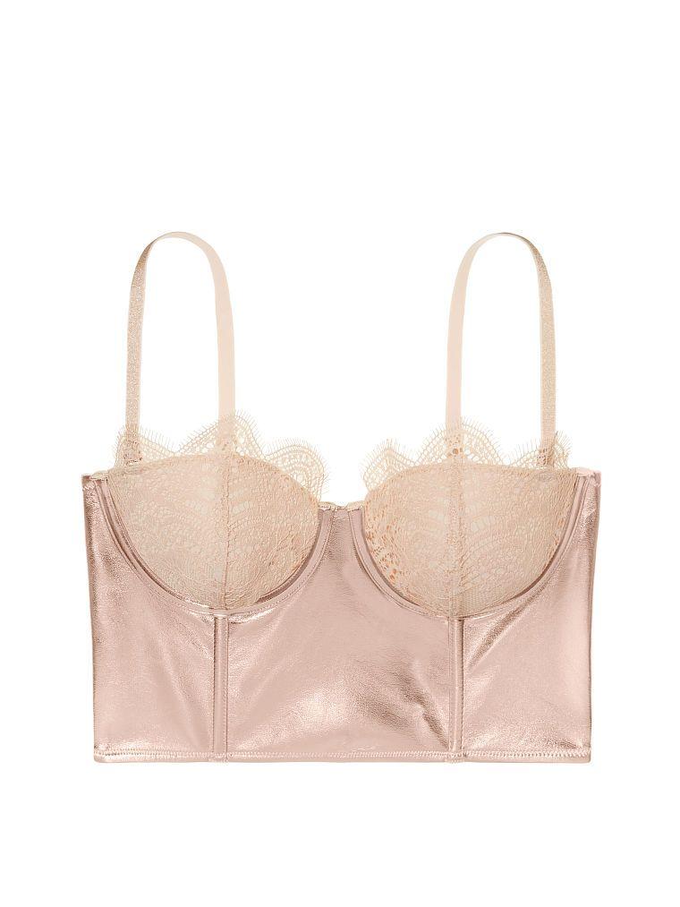 8ad3cd82468 Faux-leather   Lace Mini Bustier - Dream Angels - Victoria s Secret ...