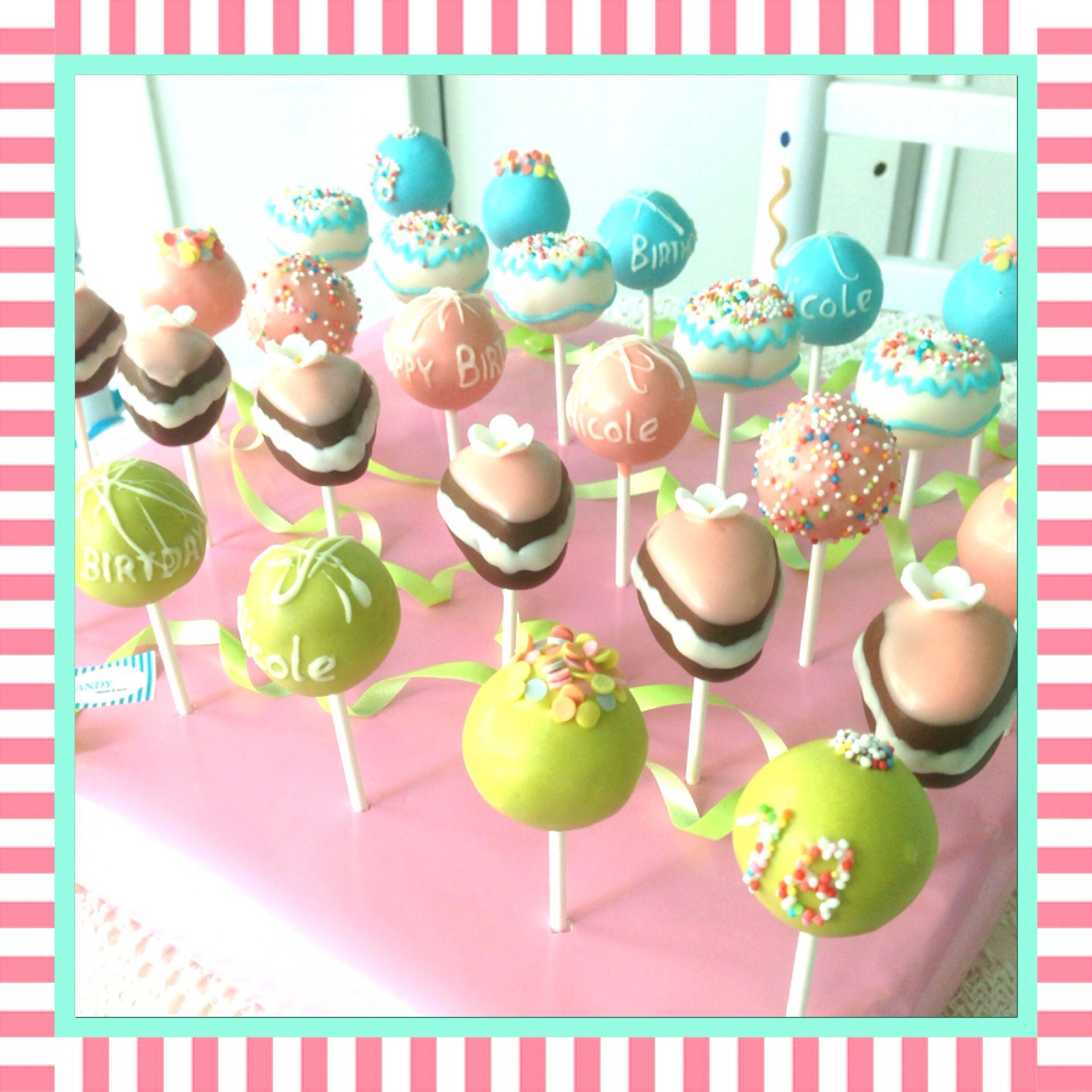 Trend Immer wieder sch n Birthday Cake Pops by sandybel cakepops cupcakes sweets