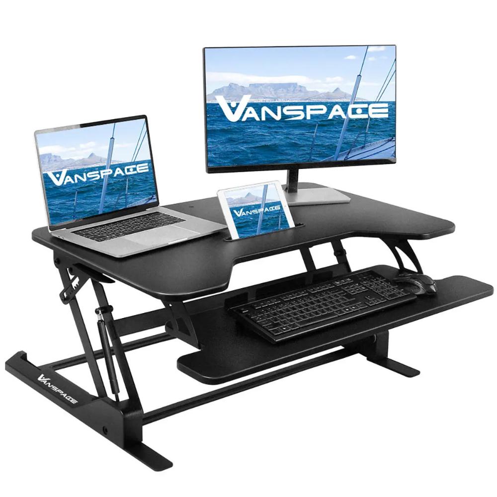 VANSPACE Height Adjustable Standing Desk Gas Spring Laptop