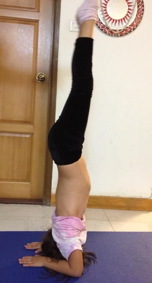 Naughty Yoga : naughty, Headstand, Little, Naughty, Weekly, Poses,, Headstand,, Poses
