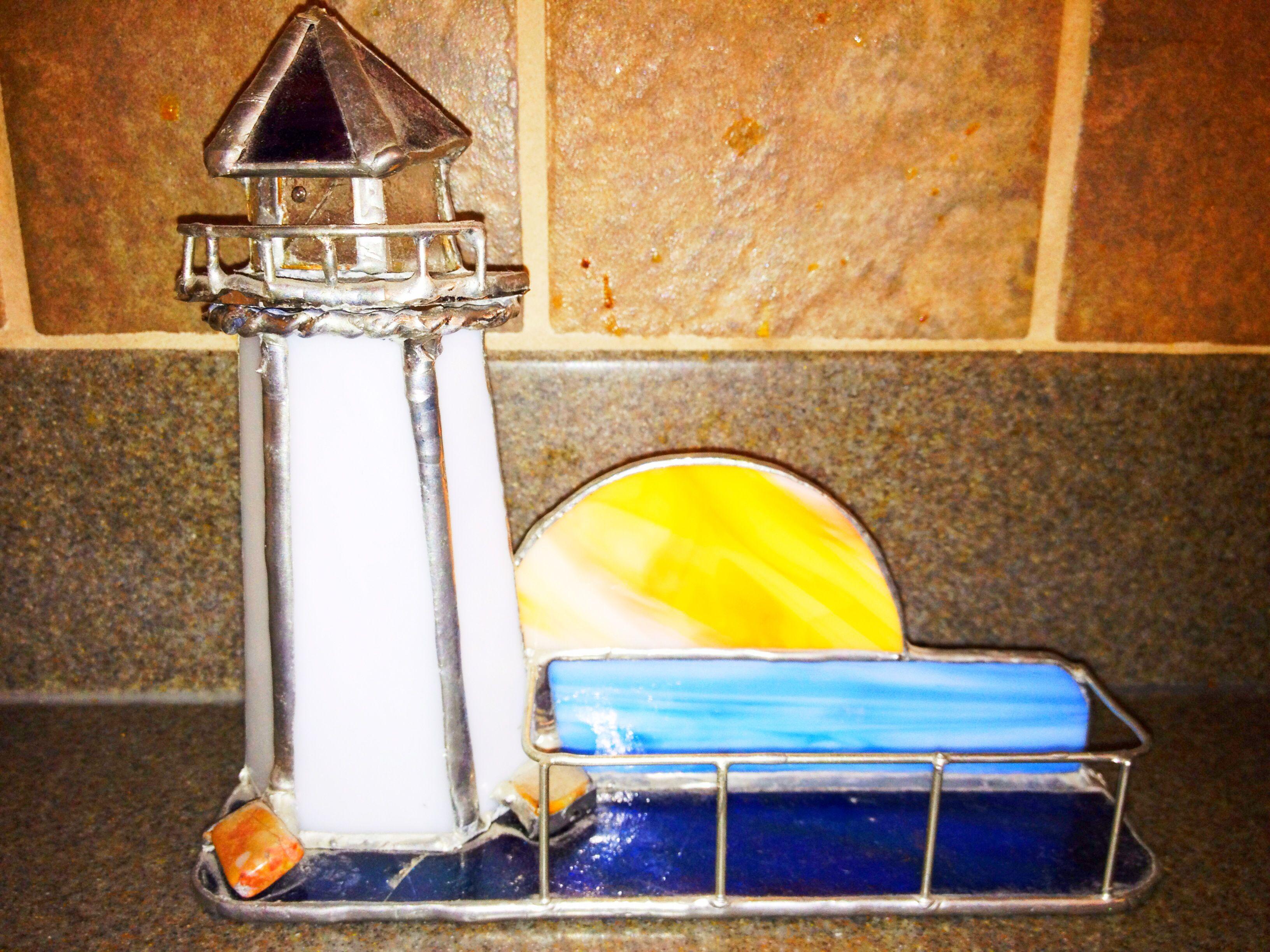 Lighthouse business card holder Stain Glass Art of Vivian Sarkis ...