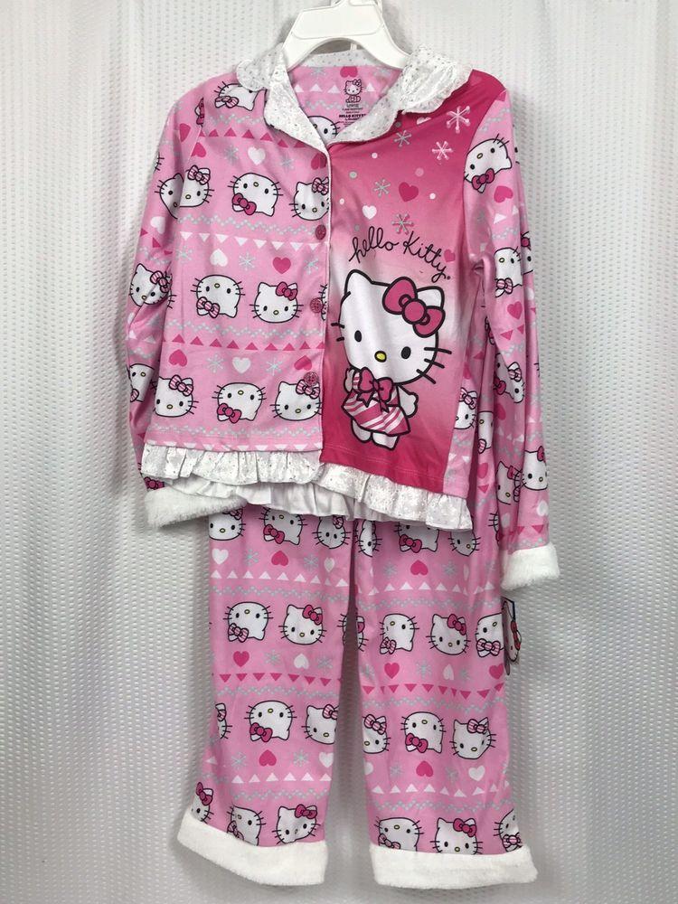 7270ab887 Sanrio Girls Hello Kitty Pajamas - 2-Piece Long Sleeve Pajama Set - Size  10/12 #fashion #clothing #shoes #accessories #kidsclothingshoesaccs ...