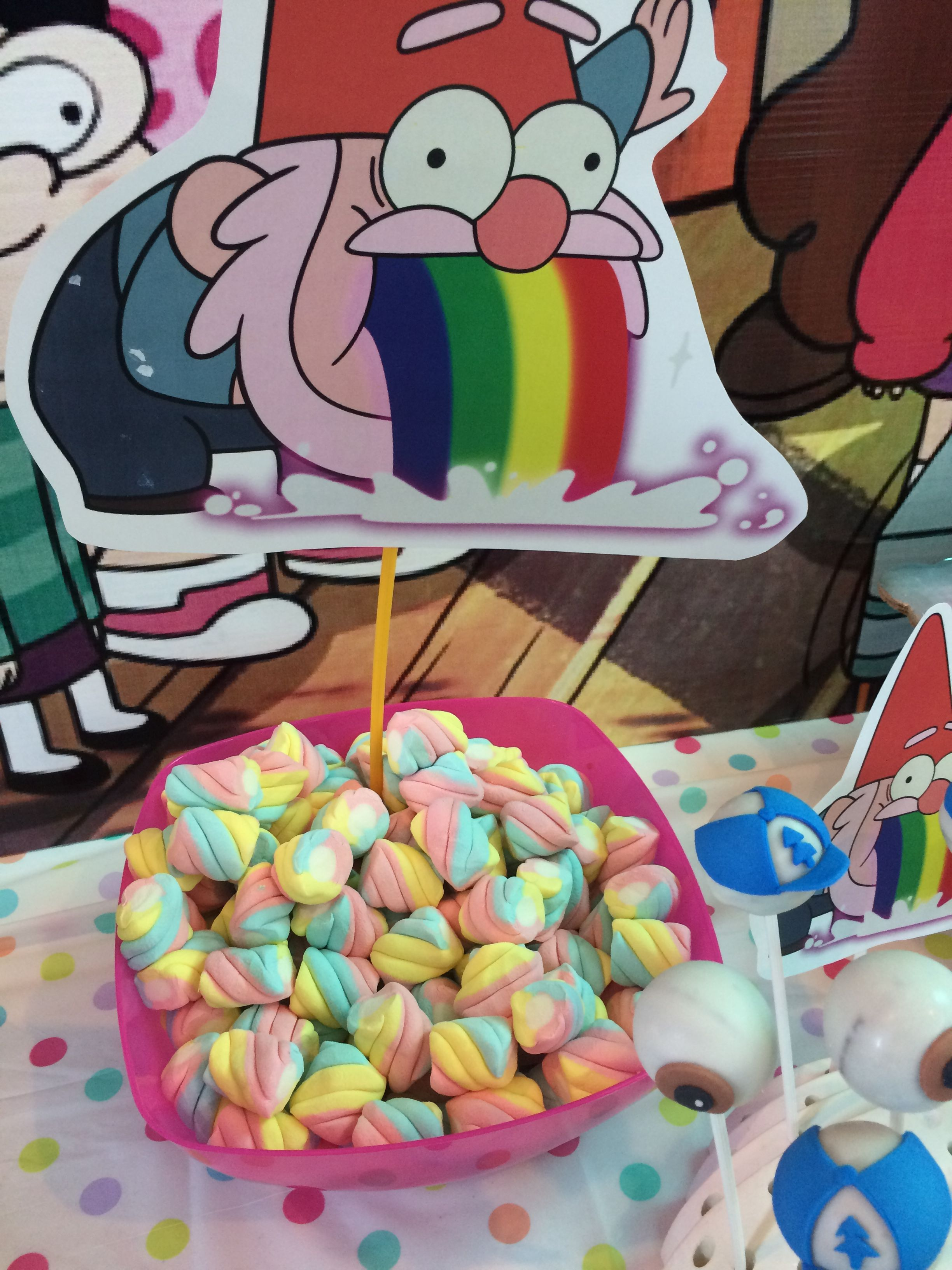 Gnomo Arcoiris Gravity Falls Party Fiesta Tematica Gravity Falls
