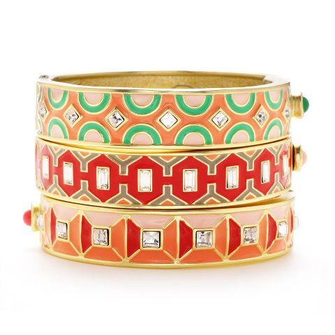 Stack 'em high! Bangles from Gerard Yosca available at Magpie!