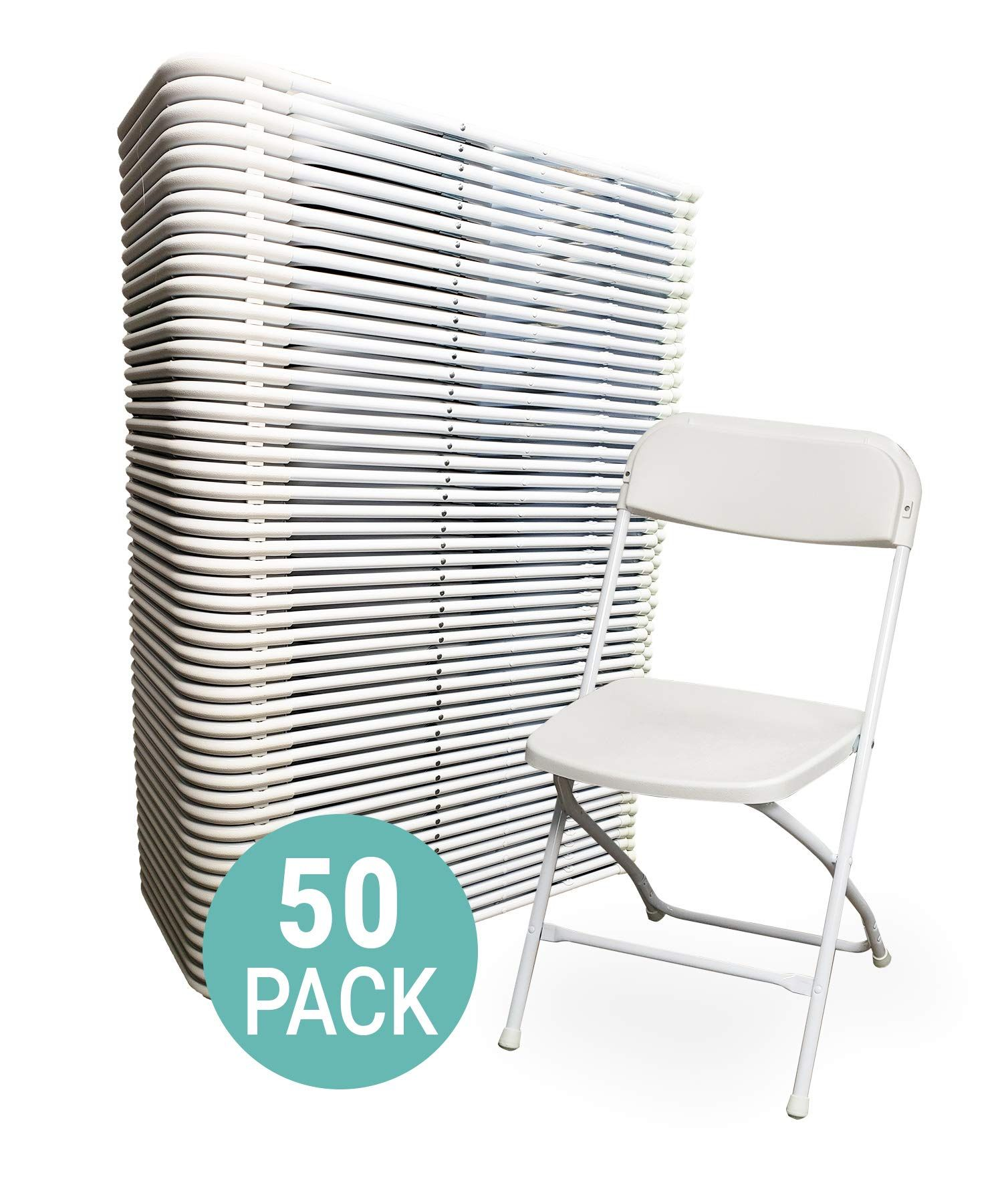 Eventstable Titanpro Plastic Folding Chair White 50 Pack