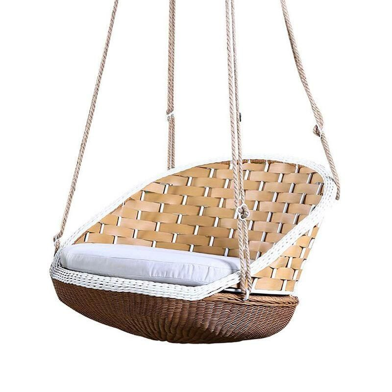 Casual Rattan Hanging Basket Swing Chair | Wicker swing ...