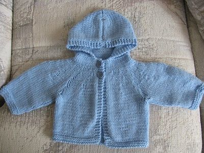 free knitting baby sweater with hood Knitting Pattern ...