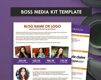 Elegant Blog Media Kit Template Press Kit  Pages By Twelveskip