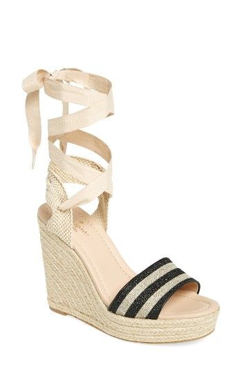 2078263ca18c Free shipping and returns on kate spade new york delano wedge sandal (Women)  at Nordstrom.com. Subtle stripes of glitter enliven the toe strap of a  lofty ...