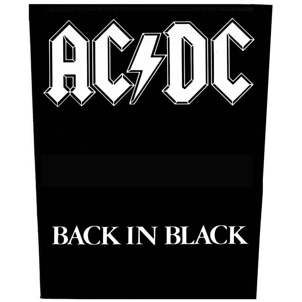 Ac Dc Back In Black Giant Back Patch Official Licensed Band Merch