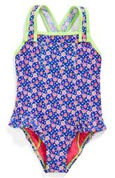 Hula Star 'Strawberry Fields' One-Piece Swimsuit (Toddler Girls & Little Girls)