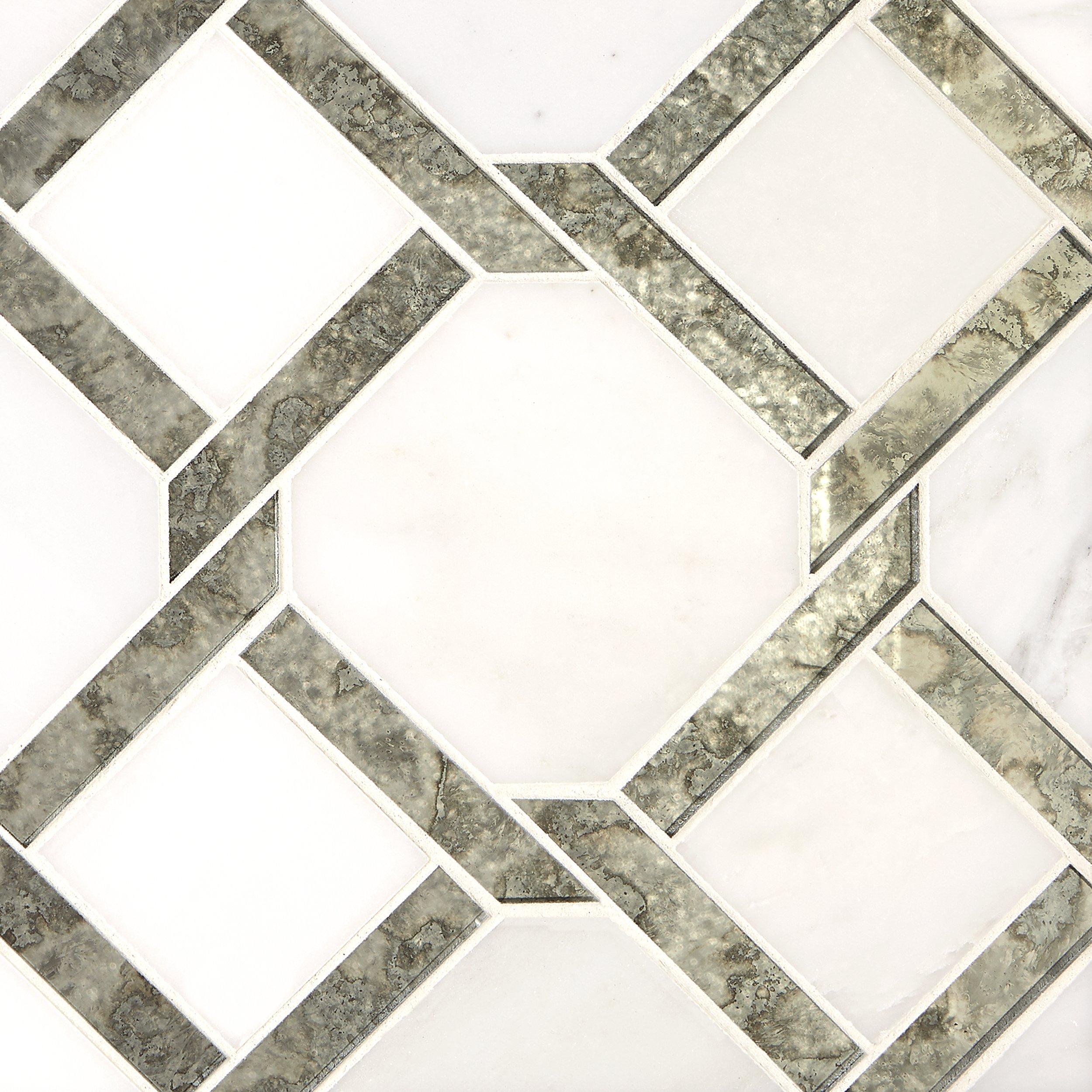Seville Carrara White Waterjet Marble Mosaic Waterjet Marble Marble Mosaic Decorative Tile