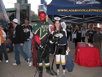 Going to a Nashville Predators game on Halloween.... spooky!